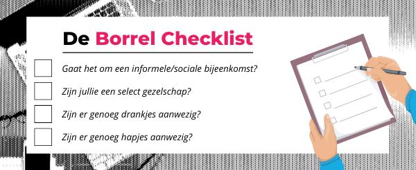 Checklist Met Allemaal Punten Voor Een Online Borrel
