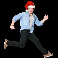 Jumping Christmas Man