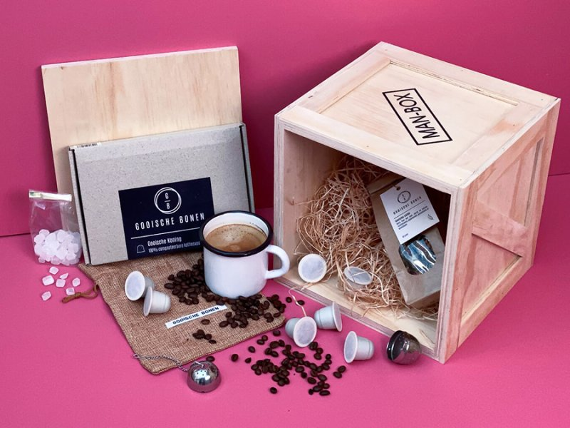 Man-Box Koffie Cadeaubox powered by Gooische Bonen