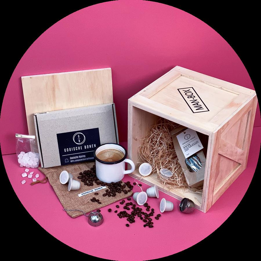 Man-Box Koffie Cadeaubox powered by Gooische Bonen