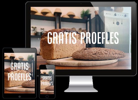 3 devices mockup Gratis Proefles Marije Bakt Brood