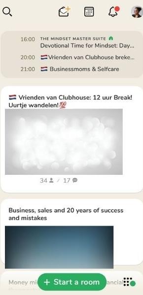 Clubhouse, netwerken voor ondernemers agenda