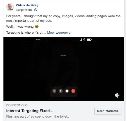facebook lead advertenties voorbeeld