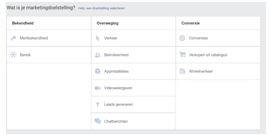 Marketingdoelstelling Dashboard