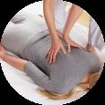 shiatsu op de massagetafel