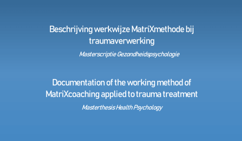 Wetenschappelijk onderzoek MatriXmethode