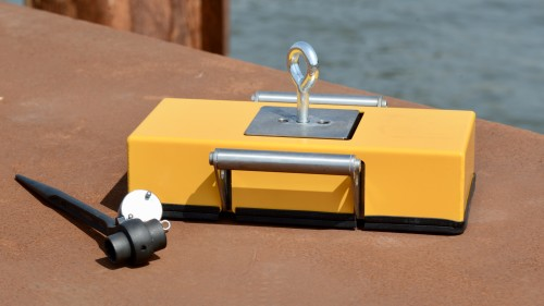McNetiq magnet anchor with the protective cover and the special key
