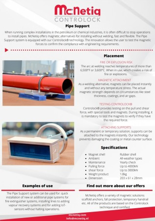 McNetiq pipe support flyer