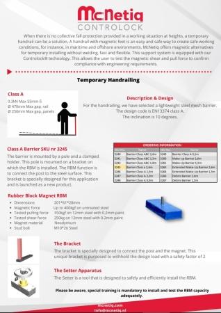 McNetiq Temporary Handrail Flyer