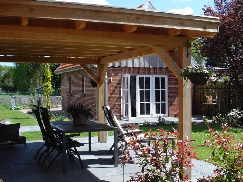 Voorbeelden van terrasoverkapping reinhout overkappingen - Terras met houten pergolas ...