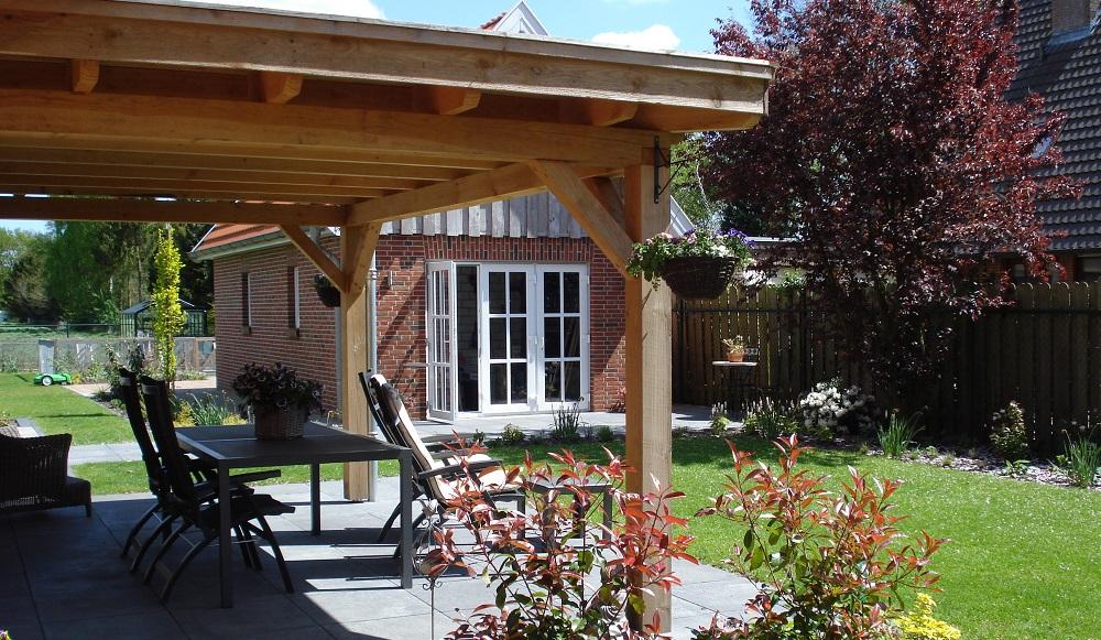 Mecklenfeld tuinen reinhout houten terrasoverkappingen - Terras met houten pergolas ...
