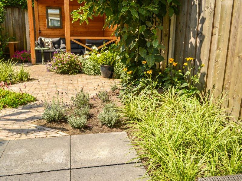 Kleine tuin in vriezenveen mecklenfeld tuinen for Strakke tuinen met siergrassen