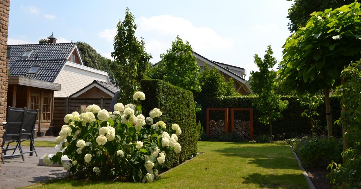 Moderne tuin in vriezenveen mecklenfeld tuinen for Mobiele woning in de tuin