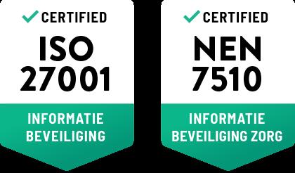 MedicPlek is ISO27001 en NEN7510 gecertificeerd