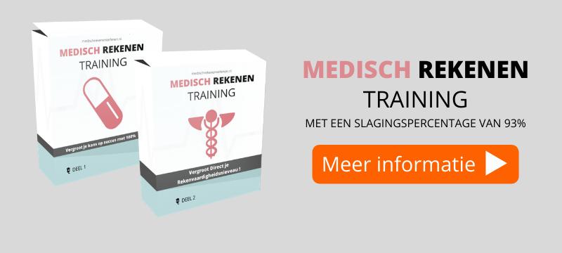 een banner over Medisch Rekenen Training
