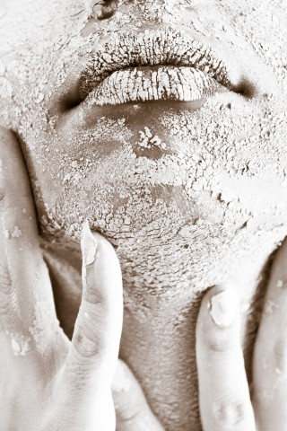Droge schilferende huid