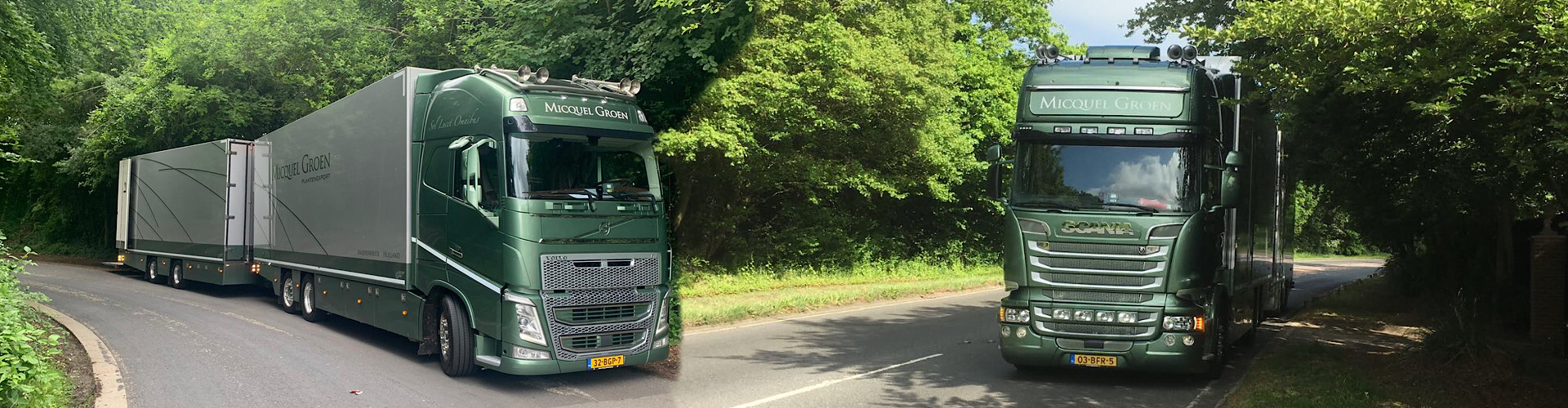 Own lorries used by regular qualified drivers.