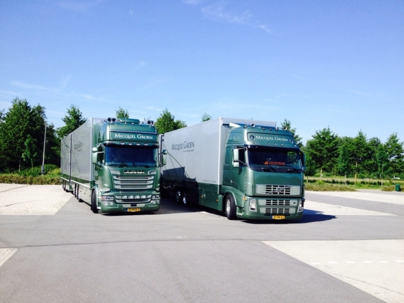 Own Micquel Groen trucks used by regular drivers.