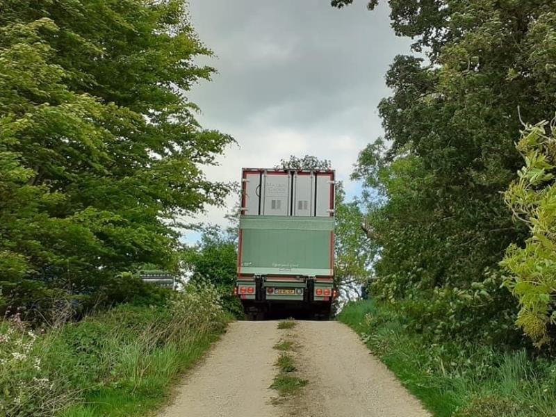 Own Micquel Groen lorry suppling garden centres in the United Kingdom