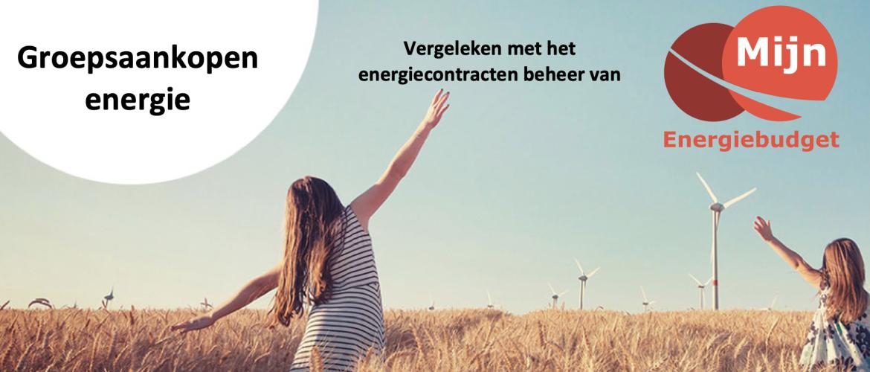 Groepsaankopen vergeleken met energiecontracten beheer van Mijn Energiebudget