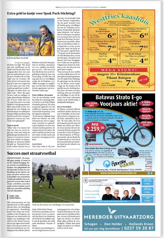 Nieuwsblad Hollands kroon blz 7