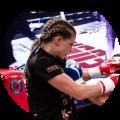 Sheena Widdershoven, tweevoudig wereldkampioen kickboksen, werd gecoached door Milan Somers