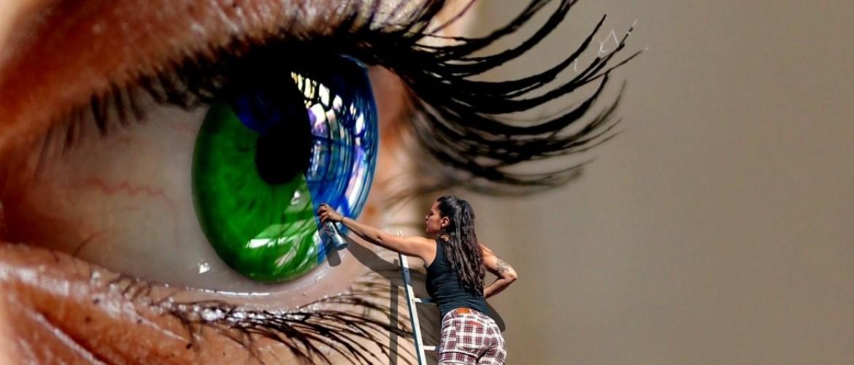 Blurred vision during stress or burnout