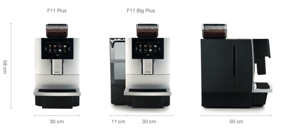 Dr. coffee F11 koffiemachine afmetingen
