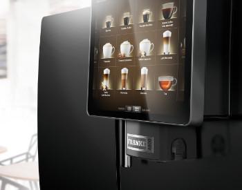 Koffie op het werk met de Frank A850 professionele koffiemachine