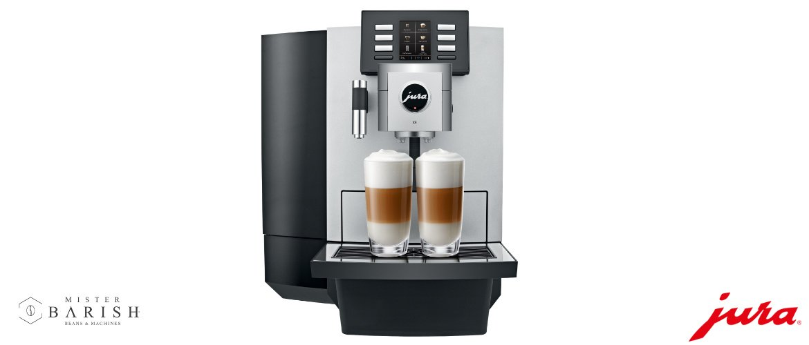 Jura X8 is een topmachine voor commercieel gebruik en superieure koffie.