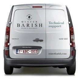 Mister Barish service koffie op het werk