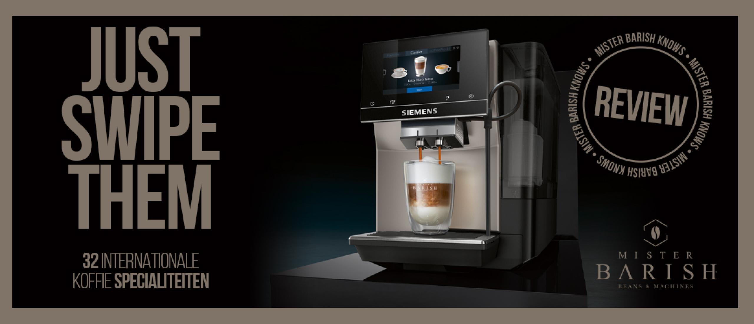 Siemens EQ.700 is de volautomaat met het grootste bedieningsgemak en ontzettend veel lekkere koffiespecialiteiten