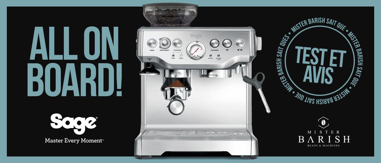 Barista Express de Sage : une machine à café à grain haut de gamme, compacte et abordable