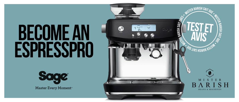 Barista Pro de Sage : la puissance d'une machine à espresso professionnelle dans un format compact