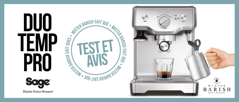 Duo Temp Pro de Sage : une machine à espresso compacte pour une préparation manuelle du café