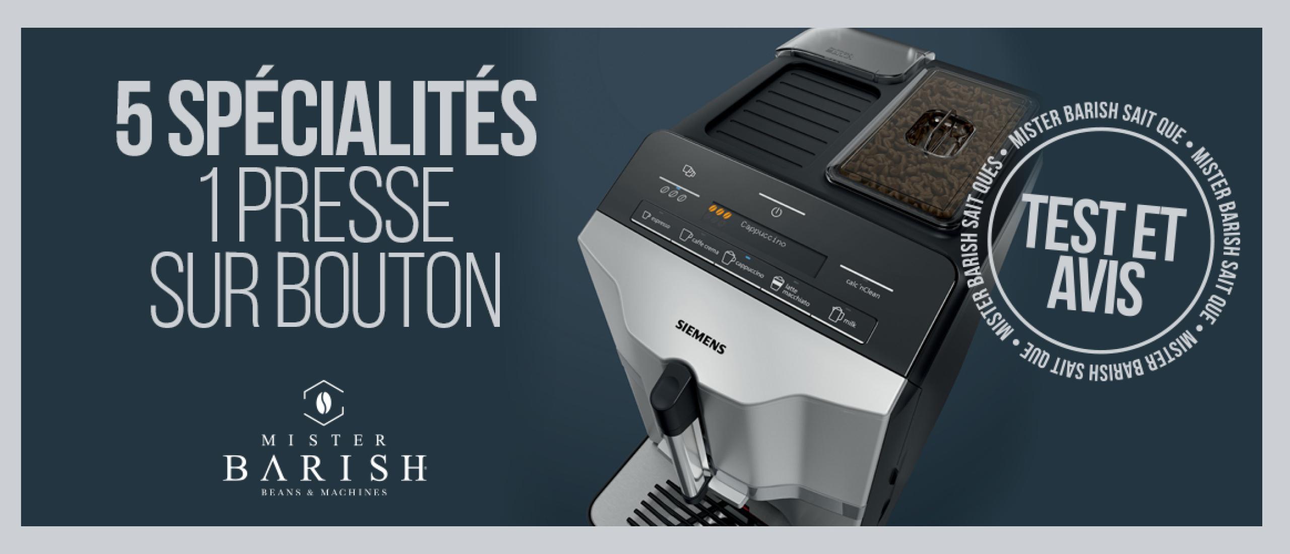 Siemens EQ.300 : des machines à café automatiques à prix doux