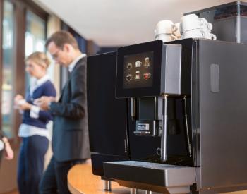 Franke A400 professionele koffiemachine op het werk