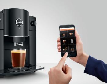 Jura D4 koffiemachine bedienen via de app