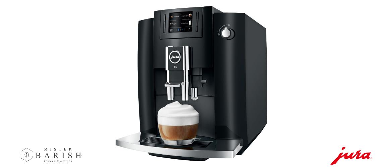 Jura E6 is een volautomatische koffiemachine uiterst geschikt voor o.a. zwarte koffie