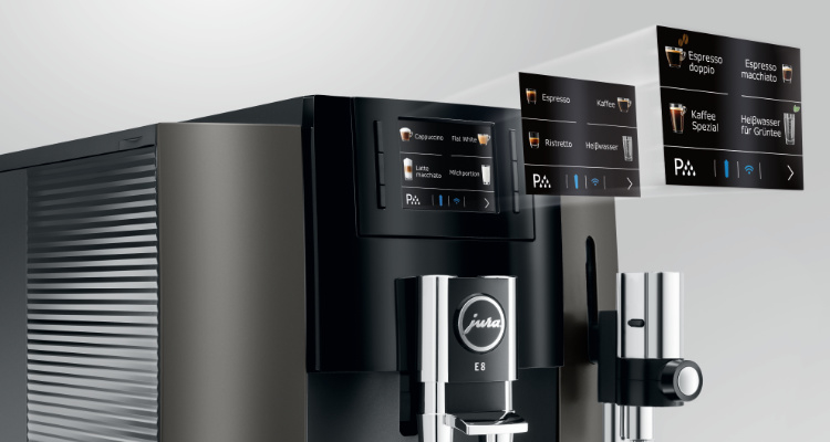 Bediening Jura E8 koffiemachine