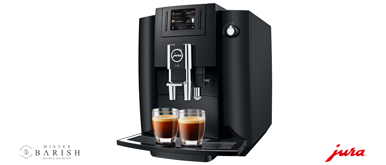 Jura E60 koffiemachine is een stijlvolle volautomaat voor zwarte koffie