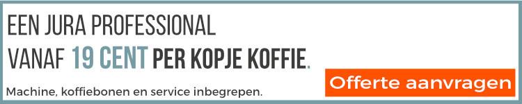 Offerte aanvraag professionele Jura koffiemachine
