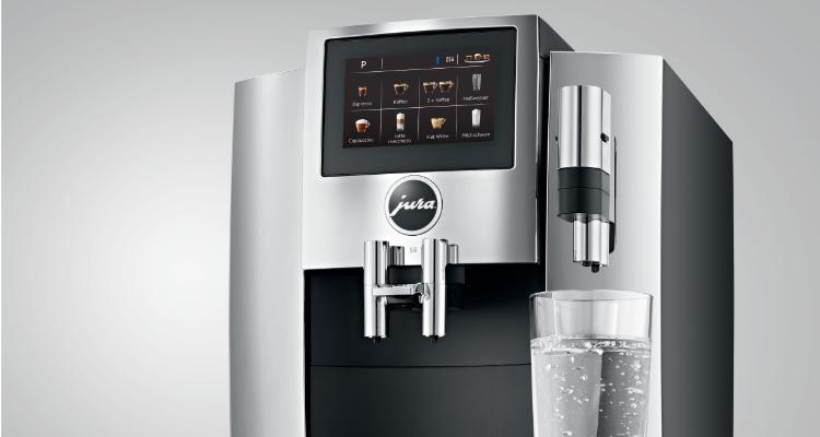 heet water Jura S8 koffiemachine