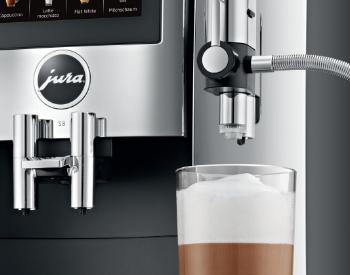 latte macchiato Jura S8 koffiemachine