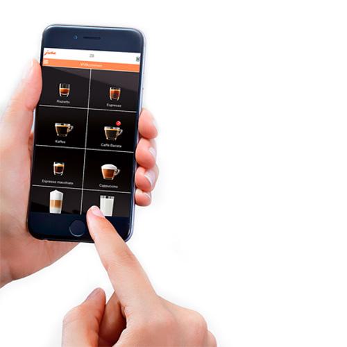 Jura we6 Corona save bediening met de smartphone