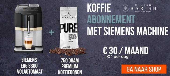 koffie abonnement met machine