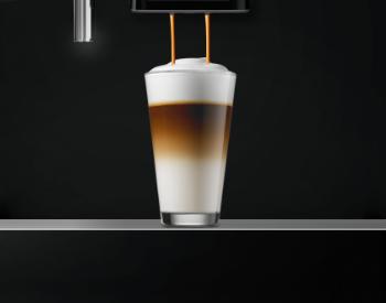 latte macchiato op het werk