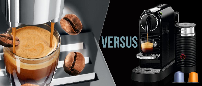 Nespresso versus koffiebonen met een volautomatische machine