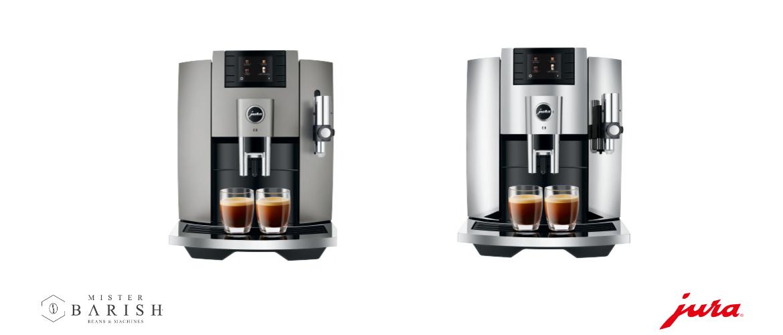 Jura E8 koffiemachine is de complete volautomaat voor thuisgebruik met professionele koffiemolen
