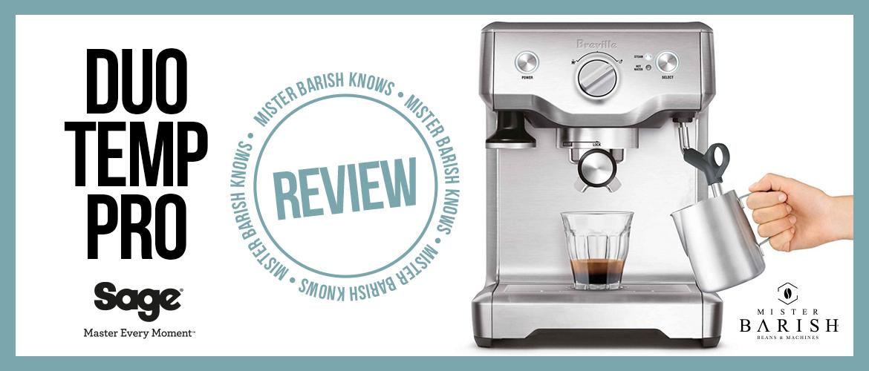 Sage Duo Temp Pro: een compacte espressomachine voor handmatig koffiezetten